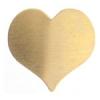 Metal Blank 24ga Brass Heart 20x22mm No Hole